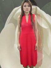 caliente rojo de cóctel sexy vestido de noche para la señora bonita ropa de danza