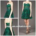 2014 novo design verde applique sweetheart a linha de comprimento curto vestido de noite vestidos de mulheres grávidas
