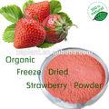 100% d'eau.- solubles. fraises. poudre/fraises lyophilisées en poudre