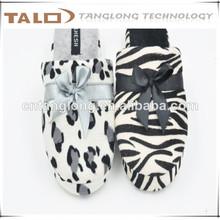 Señoras leopard& cebra zapatillas, señoras zapatillas de interior