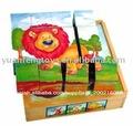 De madera kid's puzzles/rompecabezas de los animales