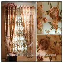 Tela árabe, el dibujo bordado diseños, clásico de la serie de flores de la cortina