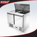 Comercial de salada em aço inoxidável frigorífico counter/refrigerado balcão/refrigerado balcão de bar