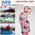 100% rayón moda diseño de tela tejida