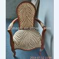 euopean antiguo estilo de madera tapizados silla de leopardo mobiliariodesala