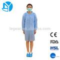 azul tyvek desechable dental de laboratorio abrigos con manguito