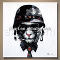 venta al por mayor más nuevo mock decoración del gato casco de pintura al óleo