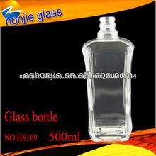 Nuevo diseño de cristal de la venta Rectángulo botella de vidrio para beber alcohol al por mayor