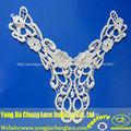 yjc16549l moda blusa bordado patch pescoço design