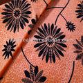 acudieron el patrón de flor de telas de las cortinas