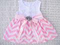 nova moda roupas kid baby girl vestido com laço