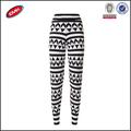 nuevo modelo de moda negro raya blanca sexy legging pantalones de las mujeres