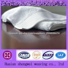 100% puro algodón toalla de cara blanca con satén