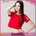 Verano 2014 nuevo diseño de moda los modelos de blusas de gasa delgado elegante personalizado mujer t- shirt sexy