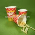Jetables de haute qualité 12/16/32oz frites françaises de tasse de papier contenant alimentaire