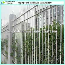 lanza la parte superior de metal galvanizado de acero jardín valla ornamental