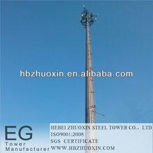 hebei acero zhuoxin telecomunicaciones gsm de microondas de la torre de celosía
