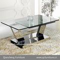 superior de cristal extensible mesa de café 848