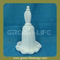 en forma de flor de porcelana cena campana