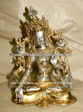 de bronce de plata tara estatua de bronce
