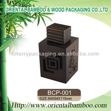 madera vacías botellas de perfume de envases cosméticos oem de madera tapas de perfume