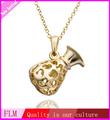 hermoso de nuevos estilos de collar de oro amarillo fpn495