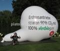 2014 venta caliente inflable gigante heluim nube de la forma del globo