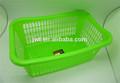rectángulo de plástico cesta de frutas hechas por el pp
