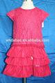 princesa de estilo de moda vestido de cumpleaños para la niña de siete años de edad