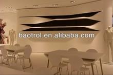 hoja de superficie sólida artificial paneles de piedra para la tapa de tabla
