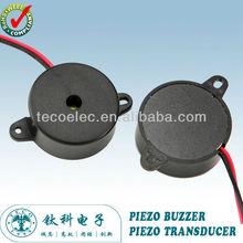 24*9.5mm plomo de alambre transductor piezoeléctrico( tpt- 2410l)