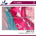 corazón franela impresa tela suave para la ropa del bebé
