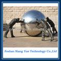 Hueco de acero inoxidable esfera/gran jardín bola de metal decorativos