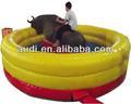 Toro mecánico/rodeo toro inflable con esteras/alfombrillas