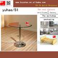 caliente de diseño de vidrio mesa de café
