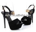 mujer zapatos de plataforma de la moda sexy bombas de tacón alto dama pqj2327
