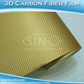 Sino de etiqueta libre de aire caliente de la venta de oro 3d de fibra de carbono etiqueta/de fibra de carbono de la película
