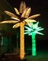 3m 4m 5m 6m led de gran tamaño de palma de coco luz del árbol decoraciones de umbral de la puerta
