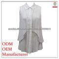 manera superior blusa blanca con un nuevo diseño