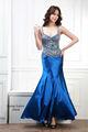 smart projeto de espaguete fishtail gambar modelo gaun vestido longo de cetim