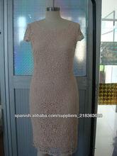 vestido de encaje de algodón 100% de la señora