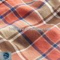 Suave!! De franela de algodón de la tela con tartan facturado patrón