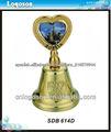 2013 personalizados decorativos de oro campanas de recuerdo del metal