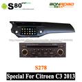del coche dvd para citroen c3 2013 con 3g wifi radio rds navegación pipv- cdc corteza a9 doble núcleo 1g ram pantalla táctil cap