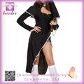 trajes atractivos de la monja PP1349 traje de halloween 2014 negro sexy ropa de traje de cosplay uniforme femenino