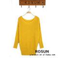 de moda diseño de la primavera de punto suelto de las señoras suéter suéter