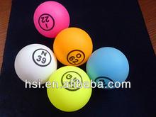 pingpang de bolas de bingo