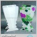 Color hermoso de la tabla de acrílico Lucite Vase, plexiglás Lucite Home Decor