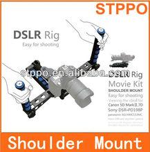 dslr rig películas de hombro kit de montaje para la cámara y videocámara