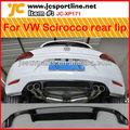 De fibra de carbono de coches difusor trasero Para vw scirocco labio parachoques trasero: vw scirocco estándar de parachoques